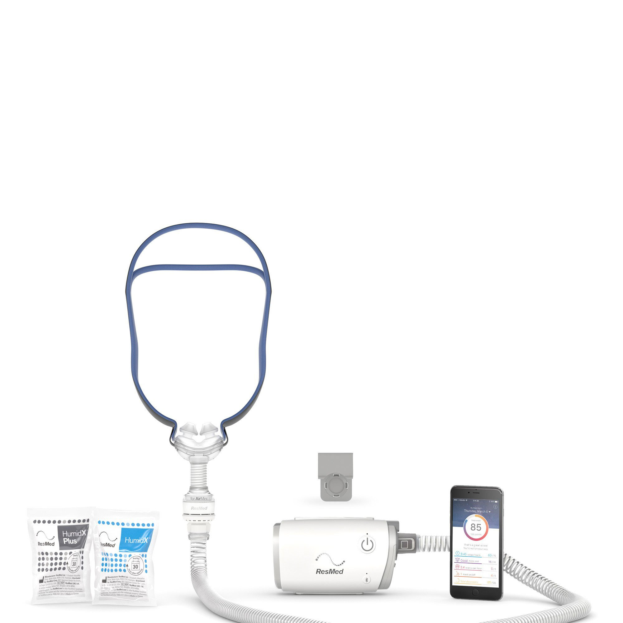 Resmed AirMini Bedside Starter Kit (Device, tube, mask)